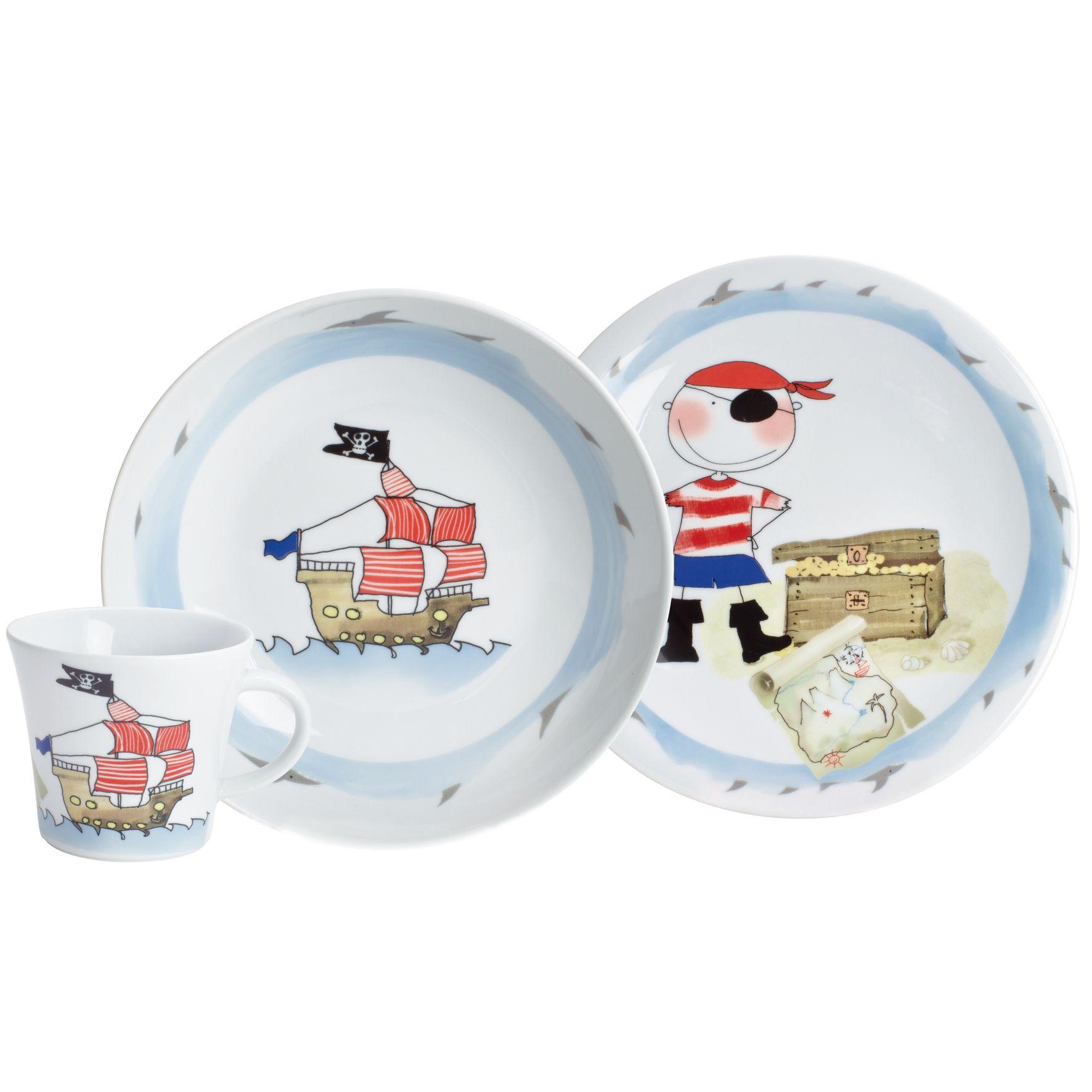Kids Mg Zestaw Porcelany Dla Dzieci Piraci 3 El Freeform