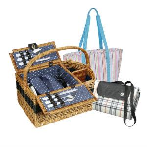 piknik: kosze, koce, torby